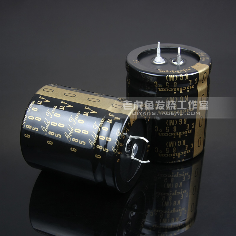 2PCS NICHICON KG Type II 50V6800UF 35x40mm Gold Tune 6800UF 50V audio 6800U amplifier filtering 6800UF/50V Type-2 image