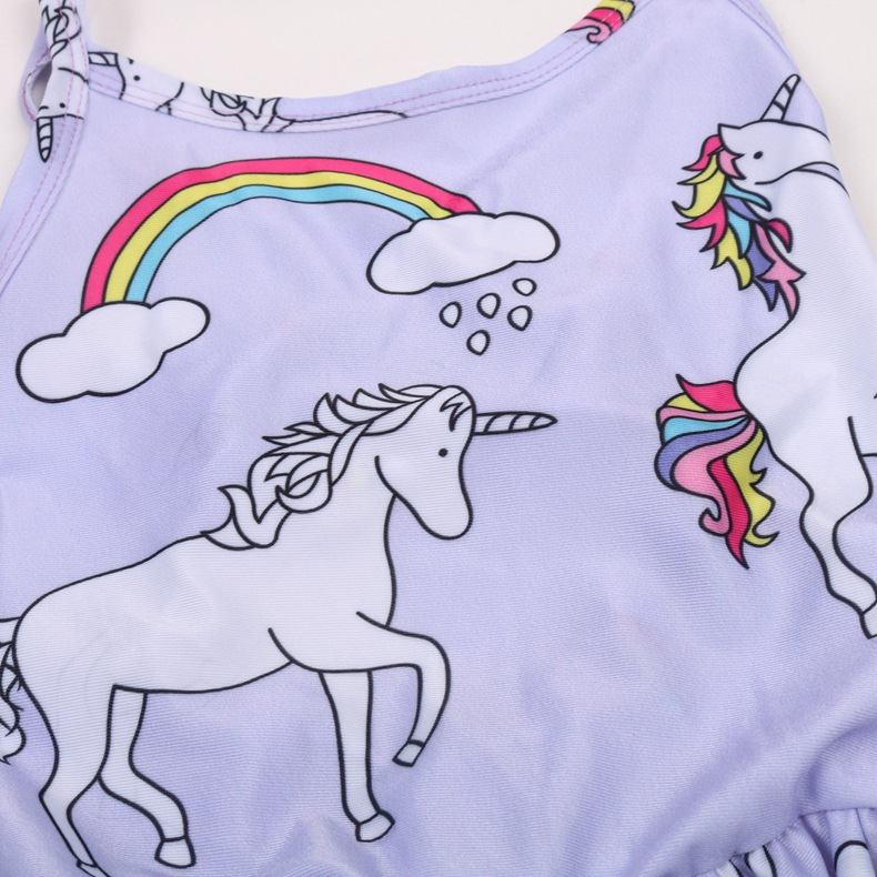 2019 Toy Unicorn Hot Springs Service AliExpress Hot Selling Childrenswear Children Bathing Suit Service 0346