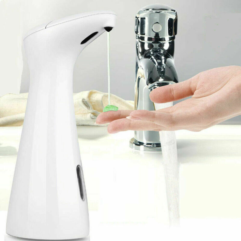 Waterproof and Washable 200ml Liquid Soap Dispensers with Smart Infrared Sensor for Kitchen and Bathroom Operated in Battery