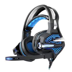 GS100 Computer Gamer Vibration Headphones with Microphone USB Subwoofer Earphones with 7.1 Surround Stereo Sound Headset