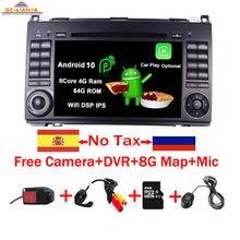 Lecteur DVD de voiture écran tactile IPS | 7 pouces, Android 10.0, pour mercedes-benz B200 W169 A160, Viano Vito GPS, NAVI RADIO BT wifi, carte dvr 3G