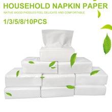 Lot de 2021 serviettes à main en papier blanc, paquet de 60 feuilles de papier toilette, pour la cuisine, 1/3/5/8/10 pièces