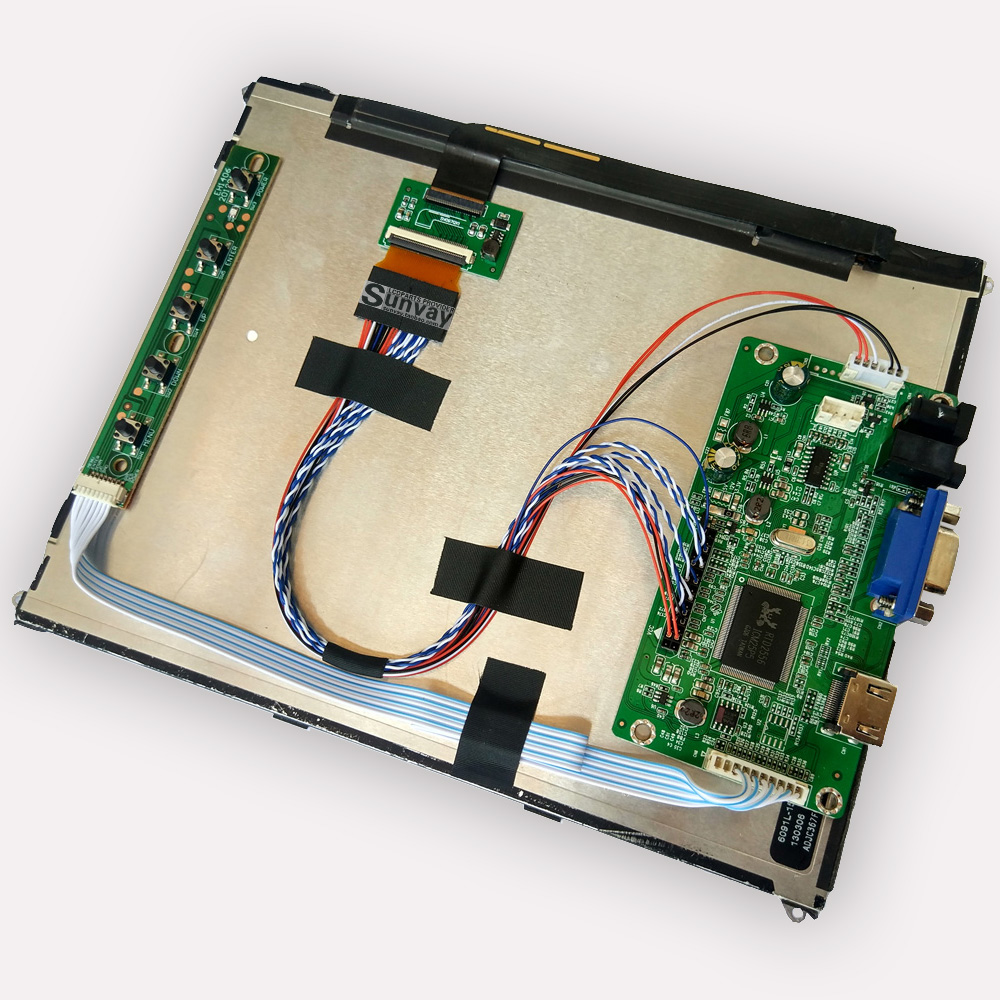 "Kit Yqwsyxl pour Ipad3 / Ipad4 9.7 ""LP097QX1-SPA1/SPA2 écran LCD HDMI + VGA LCD LED LVDS EDP contrôleur carte pilote"
