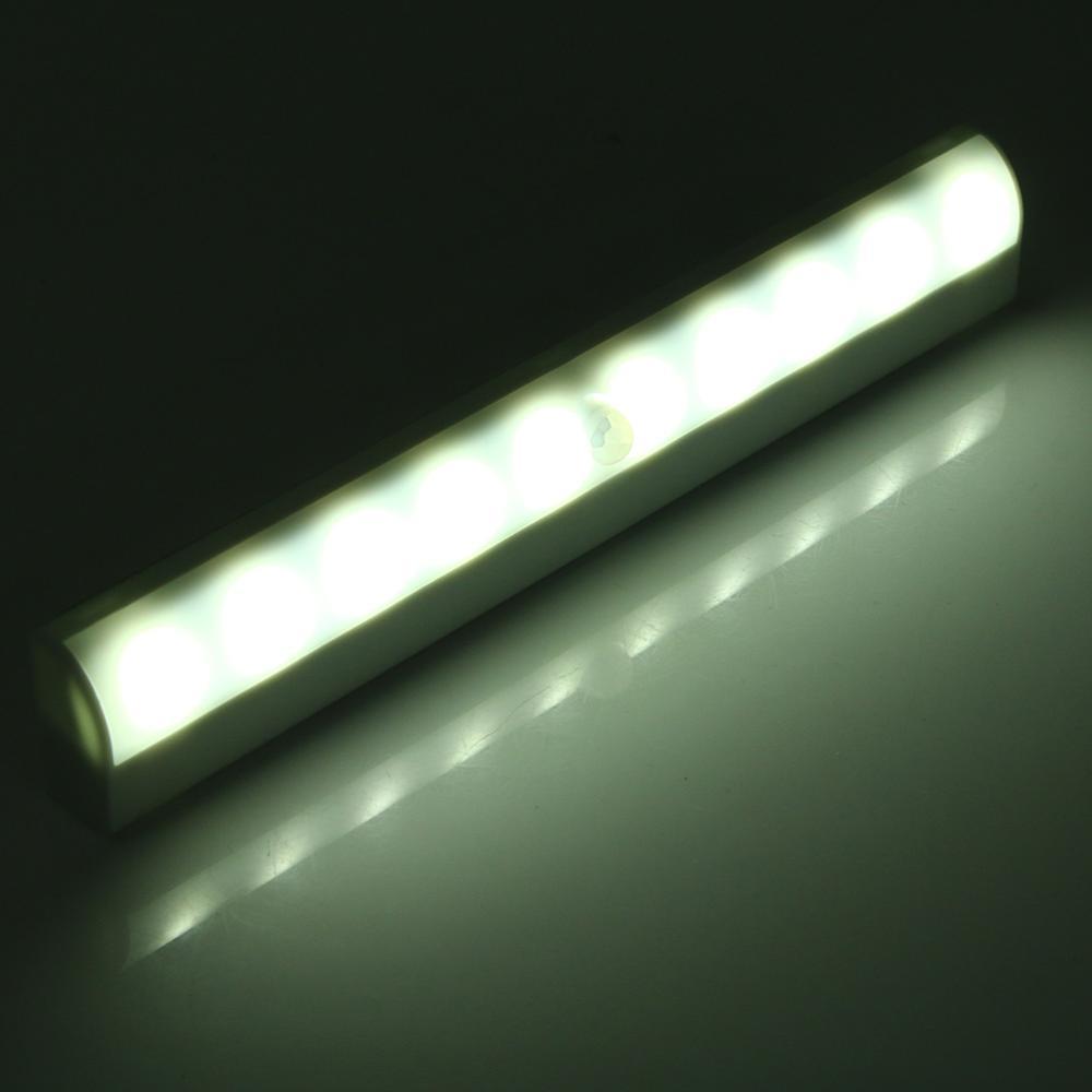 100LM 3528SMD 10LED Motion Sensor Light Bar Cabinet Wardrobe Night Lamp