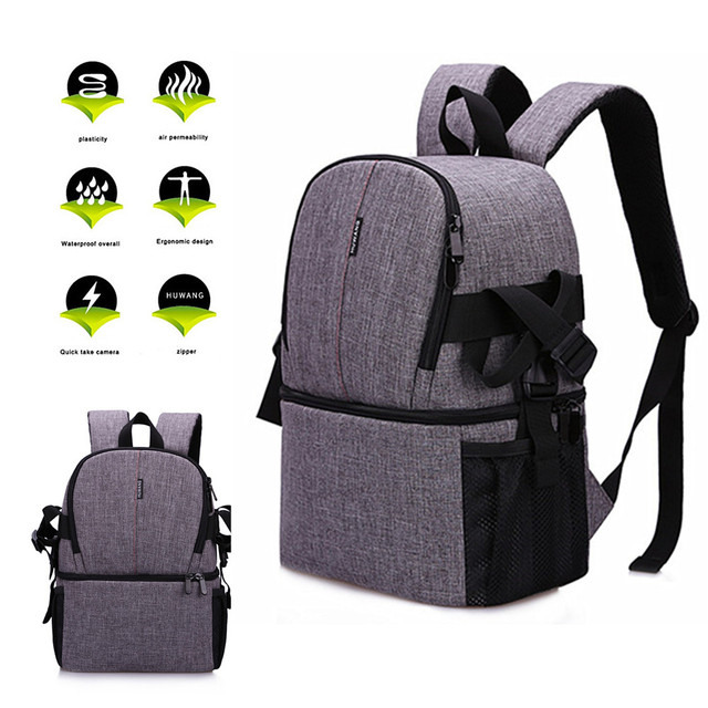 Waterproof Camera Bag Photo Photography Backpack For Polaroid Canon Nikon Sony DSLR Shoot Cameras Portable Travel Pouch Bags