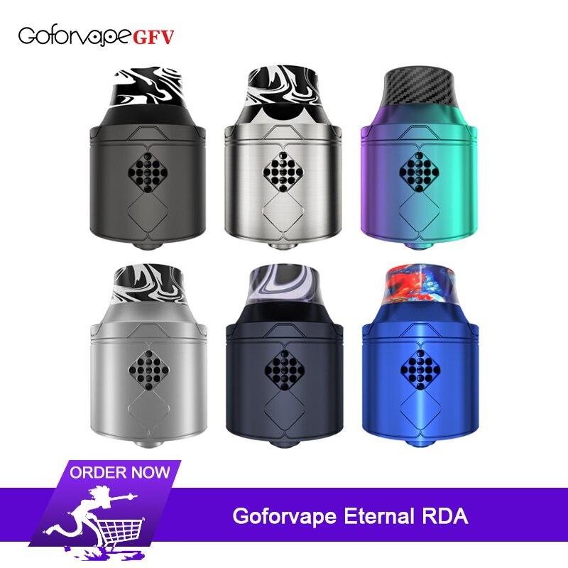 Nouveau Goforvape éternel RDA atomiseur 25mm avec pont unique en forme de U avec réservoir de broche BF Squonk pour boîte à cigarettes électronique Mod