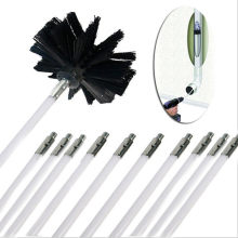 Flexible 12pc Rods With 1pc Brush Head Chimney Cleaner Sweep Rotary Fireplaces Inner Wall Cleaning Brush Cleaner Chimneys Access