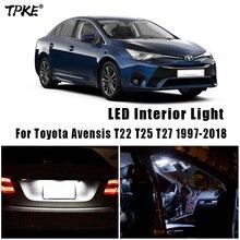 Canbus For Toyota Avensis T22 T25 T27 1997 2018 차량용 LED 인테리어지도 돔 트렁크 라이트 번호판 램프 키트