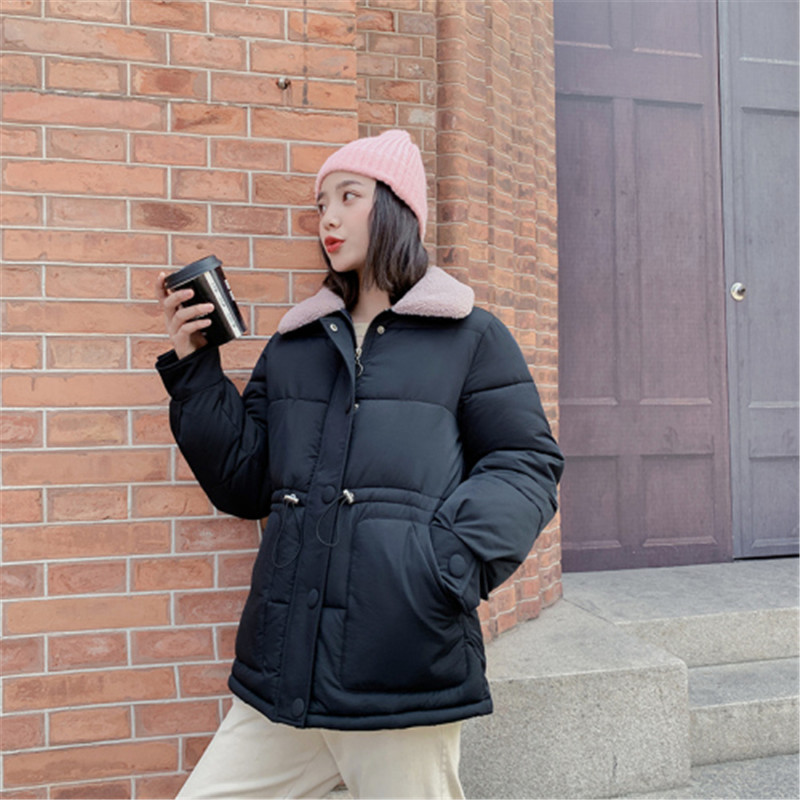 Casual Zipper Thickening Fashion   Parka   Jacket Winter Padded Coat Fur Autumn Woman Warm Female 2019 New Women Solid Cotton