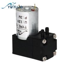 YWfluid YW11-DC 6V/12V Max Flow 180ml/Min Compact Diaphragm Vacuum Pump Used For Textile Printer