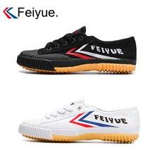 Классические кунг-фу обувь Feiyue обувь белый черный боевые искусства Taichi тхэквондо ушу Кунг Фу мягкая подошва кроссовки для мужчин tenis masculino