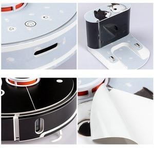 Image 5 - Adesivo fofo para robô aspirador de pó xiaomi, 1 película protetora, peças de limpeza de papel, sem escova