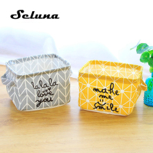 Seluna, настольная корзина для хранения, милый Принт, водонепроницаемый органайзер, хлопок, белье, коробка для хранения мелочей, шкаф, нижнее белье, сумка для хранения