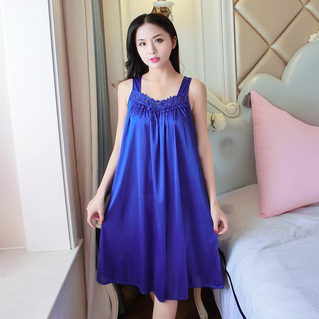 Women's <font><b>Sexy</b></font> Night dress <font><b>Lingerie</b></font> sleepwear nightwear V-neck <font><b>camisola</b></font> nightgown koszula nocna 4 colors <font><b>Plus</b></font> <font><b>Size</b></font> Dropshipping image