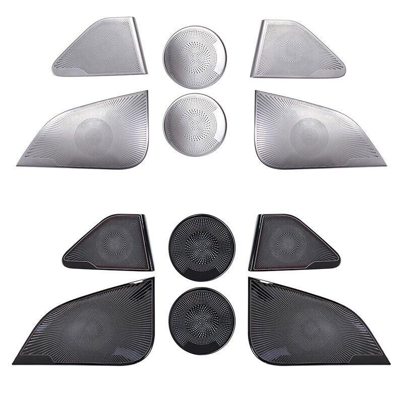 Car door pillar Speaker cover metal Emblem Badge sticker for Tesla Model 3 Car audio panel Protector decoration styling stickers