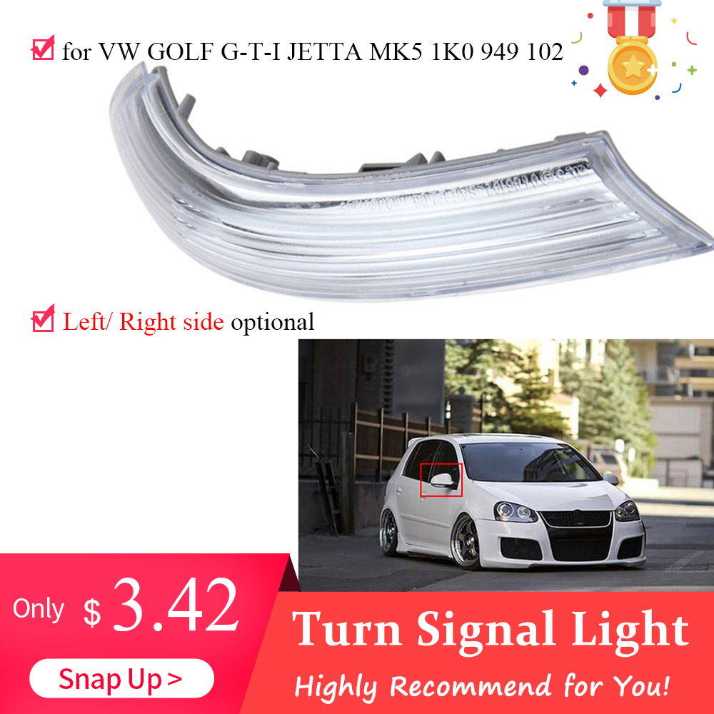Unique Turn Signal Light for VW GOLF G-T-I JETTA MK5 1K0 949 102 Right or Left  Side Mirror Indicator Rear View Mirrors Light