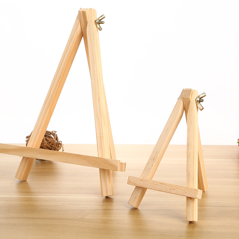 18X24 High Quality Pine Wood Mini Small Easel Tripod Solid Wood Easel Children Canvas Frame Manufacturers Wholesale