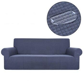 Nueva funda de sofá elástica a cuadros de poliéster, a prueba de agua, funda para sala de estar, decoración para el hogar, mobiliario para sala de estar, funda para sofá de 1/2/3/4 asientos