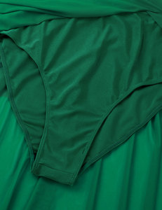Image 5 - 女性バレエレオタードドレスシングル指先でレースのボディス叙情的なモダンダンスの摩耗ファム大人非対称体操衣装