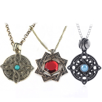 The Elder Scrolls Amulet of Mara Necklace Oblivion Morrowind Amulet Pendant Chokers Cosplay Jewelry image