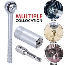 Bushing Spanner Hand-Tools Key-Grip Ratchet Universal Wrench Magic Socket-Set Multi 7-19mm