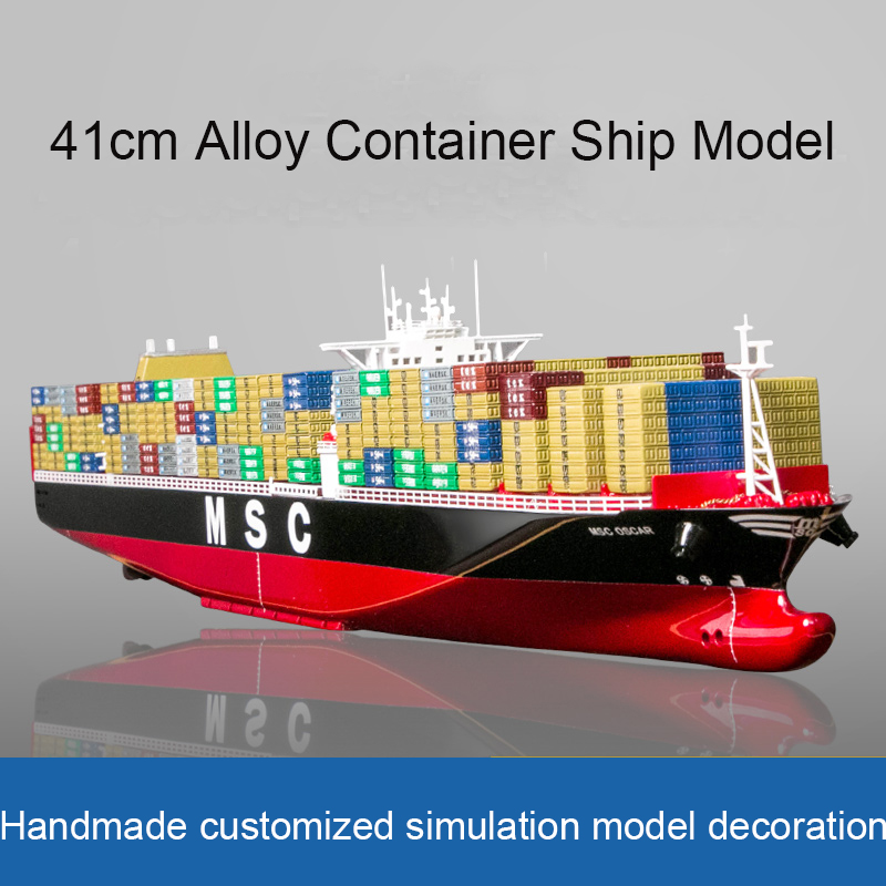 Maersk Cargo Ship Model Simulation Container Ship Alloy Ship Model ONE Container Ship Model Ornaments Customized Manually