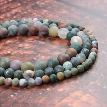 Wholesale Fashion Jewelry Frosted Indian Agate 4/6/8/10 / 12mm Suitable For Making Jewelry DIY Bracelet Necklace