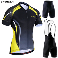 MTB Bicycle Sportswear Short-Sleeve-Set Cycling-Clothing-Suit Mountain-Bike Summer PHMAX