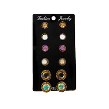 Brincos Para As Mulheres Pendientes Mujer Moda All Earrings Small Money In Europe And The Gem Mini 6 Pair Suits Stud Circle