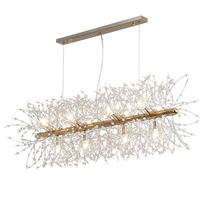 Modern Dandelion Chandelier Lamp Crystal Decoration Bulb Led Fancy Lamp Modern Style Bedroom Fitting Hanging Light Living Room|dandelion chandelier|chandelier lamp|lamp crystal - title=