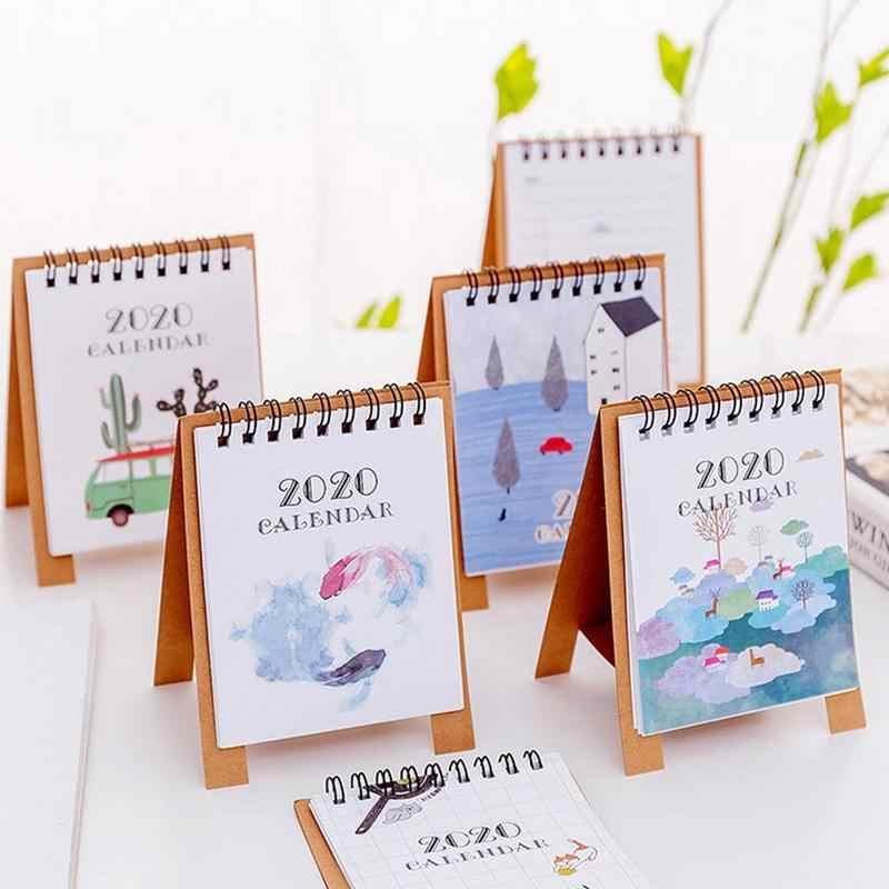 Mini Desktop Schedule Notepad 2020 Creative Cartoon Diy Desktop Decoration Desk Calendar Work Calendar Memo Aliexpress,How To Design An Office Chair