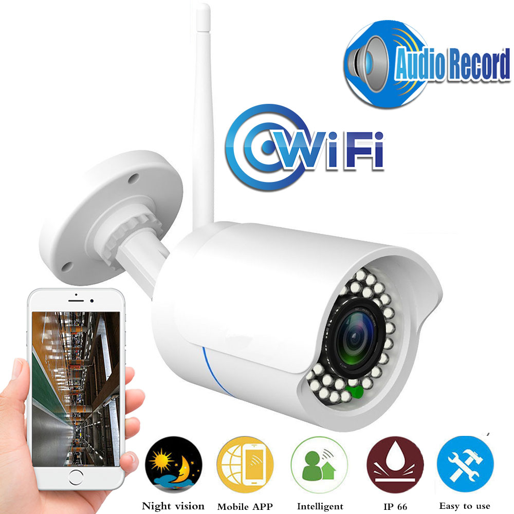 Waterproof Bullet Security Outdoor CCTV Camera 1080P Wireless IP Camera  Night Vision P2P Network Camera Video Surveillance