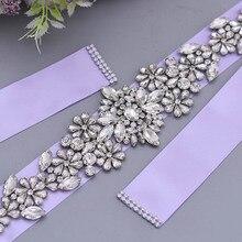 Belt Wedding-Belts Rhinestone Waistband Bride-Accessories Jewelry Sparkling Silver Girl