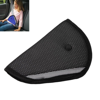 Black Car Safety Seat Belt Shoulder Padding Adjuster for Kids Baby Car Protection Safe Fit Soft Pad Mat Strap Cover Auto Accesso image