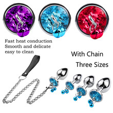 2019 New Jewelry Base Anal Butt Plugs 3 different sizes Vagina Massager Bell Plug With Chain Adult Sex Toys for Men/Women #