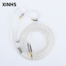 2 Core Silver Plated Wire Earphone Upgraded Cable 2.5/3.5/4.4MM With MMCX/2pin/QDC TFZ For SE846 SE535 TRN V80 V20 ED12