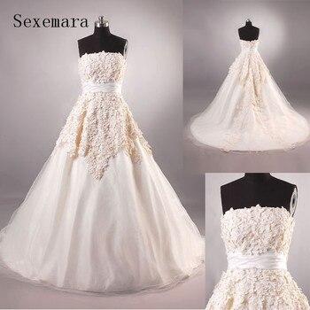 Vestido de novia largo 2018 nuevo diseño imágenes reales mujeres embarazadas vestido de boda sin tirantes vestido de baile vestidos de la madre de la novia