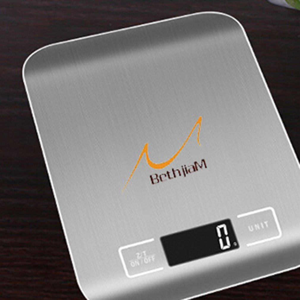 Бытовые кухонные весы, 5 кг/10 кг, 1 г, пищевая диета, Почтовые весы, измерительный инструмент, тонкие цифровые электронные весы с ЖК-дисплеем-1