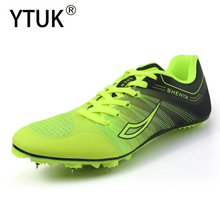 YTUK Women's Track and Field Shoes Men's Soft bottom Spikes Sneakers  Running Training Shoes Light Racing  Sneakers Unisex 36-45