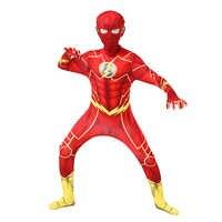 Disfraces Flash para niños, Cosplay de Anime, disfraz de Halloween para chico, monos divertidos para fiesta, superhéroe Zentai