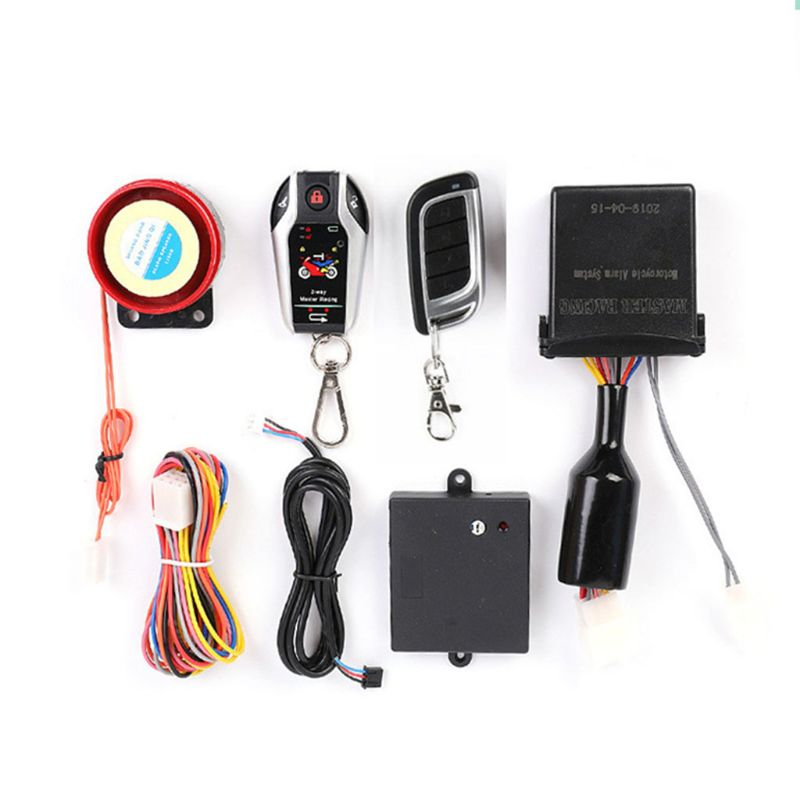 Remote Control Waterproof 12V Two Way Motorcycle Alarm Anti theft Security System With Microwave Sensor