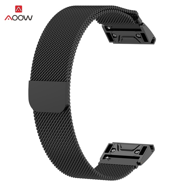 26mm 22mm 20mm Milanese Watchband for Garmin Fenix 6X 5X 5 5S Plus HR Forerunner 935 Watch Quick Release Easy fit Wrist Strap | Watchbands