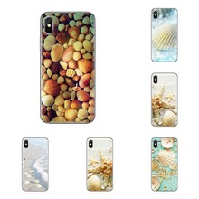 Pastell Strand muscheln seesterne Für iPod Touch Apple iPhone 11 Pro 4 4S 5 5S SE 5C 6 6S 7 8 X XR XS Plus Max Telefon Shell Abdeckungen(China)