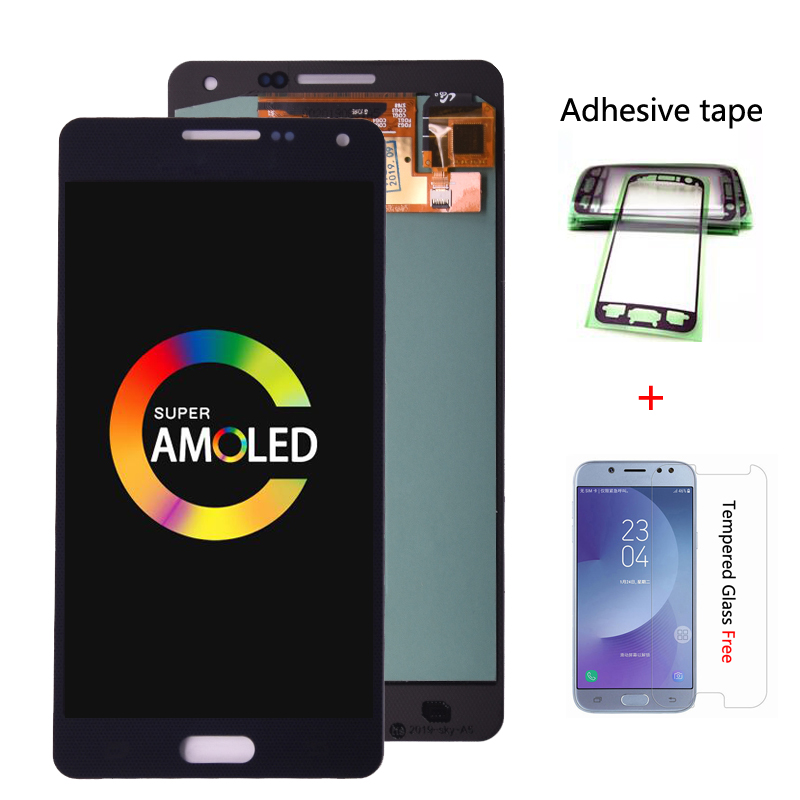 Super Amoled For Samsung Galaxy A5 2015 A500 A500F A500M LCD Display + Touch Screen Digitizer Assembly free shipping