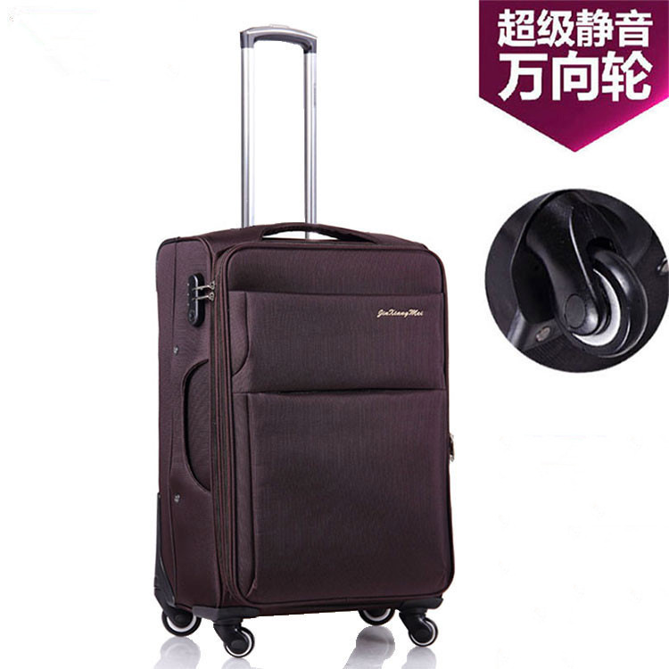 Retro Universal Wheel Oxford Cloth Luggage 20-Inch 24-Inch Travel Lugguge Suitcase Business Boarding Bag Men And Women