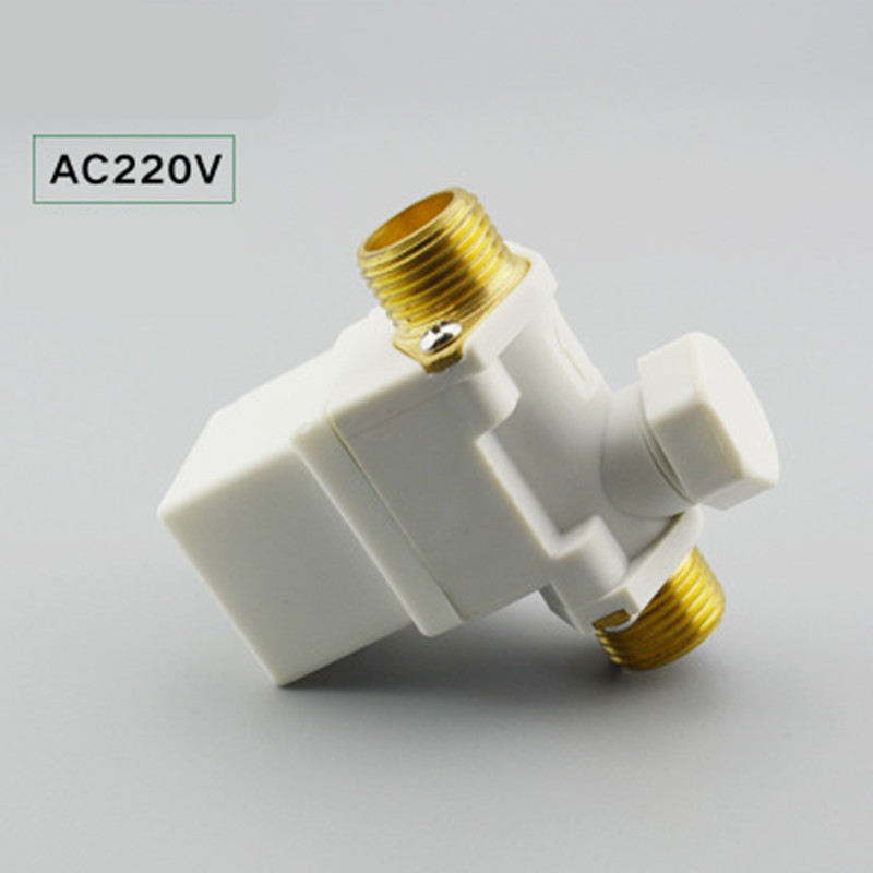 AC 220V Water Air N/C Normally Closed Open Pressure Solenoid Valve 1/2