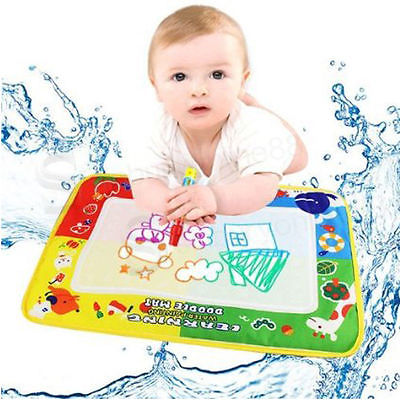 Fashion Baby Childrens Toddler Kids Toys Water scrawl Mat Drawing Painting Magic Pen Painting Decor