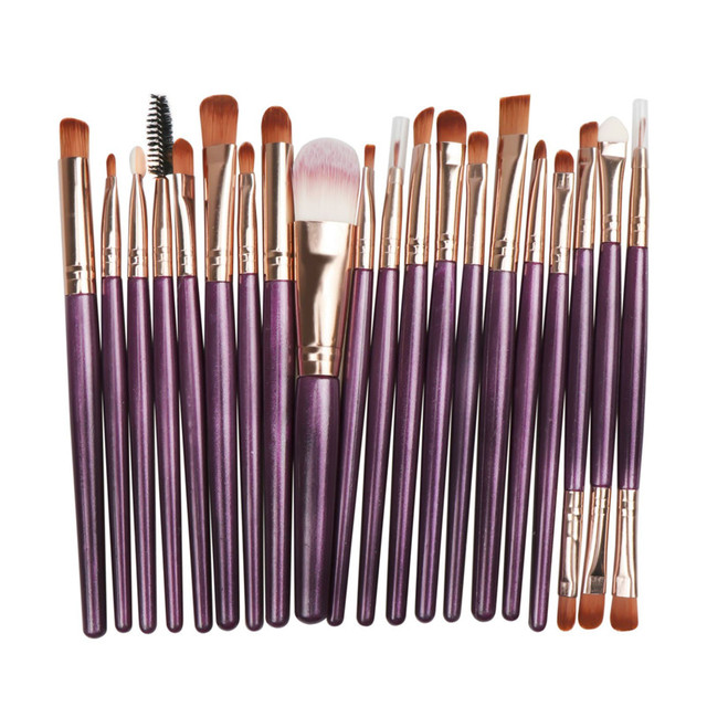 20Pcs/lot Eyeshadow Makeup Brush Set Fashionable Eyebrow Eye Shadow Powder Cosmetic Kit