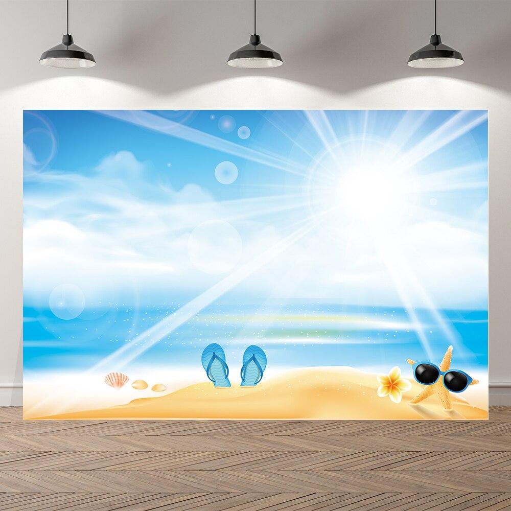 Seekpro Лето море пляж фотосессии ребенок солнце праздничный фон для фотосъемки с изображением в стиле вечеринки в честь Дня Рождения опорное ...