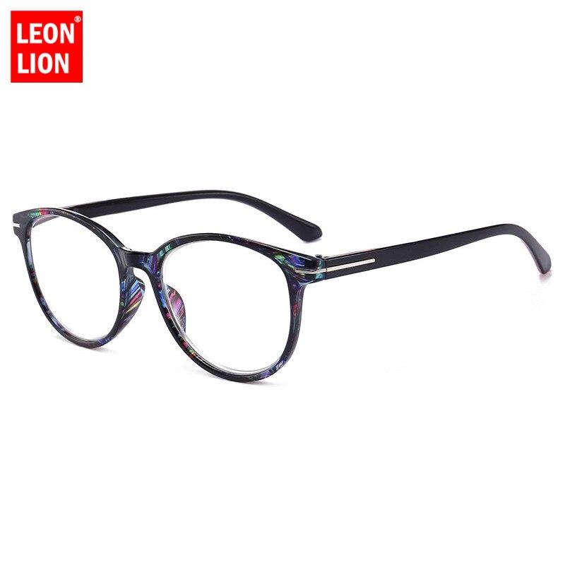LeonLion moda okuma gözlükleri toptan kadın anti-yorgunluk yuvarlak çerçeve presbiyopik gözlük erkekler eski okuma ayna Farsighted